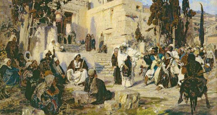 Христос и грешница. В.Д. Поленов. 1885 г.
