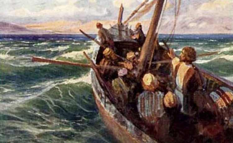 иисус с учениками в лодке картинки
