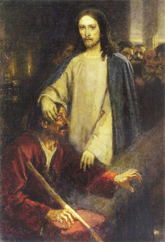 Картинки по запросу Исцеление слепого (Худ. В.И. Суриков)